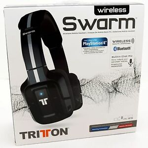 New Mad Catz Tritton Wireless Swarm Headset Bluetooth Ps4 Pc Mac Iphone Android Ebay