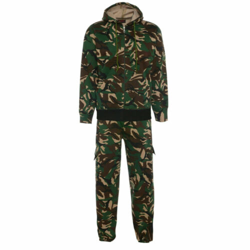 Mens Camouflage Hoodies Tracksuit Sweatshirt /& Pants Set Fashion Sportswear Suit