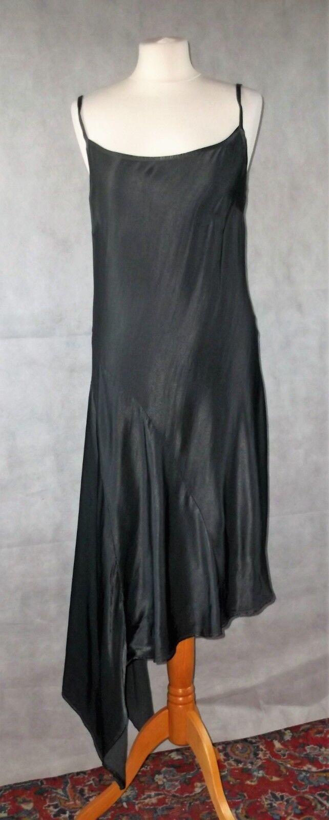 NEW WITH TAGS GHOST grau asymmetric hem dress Größe s