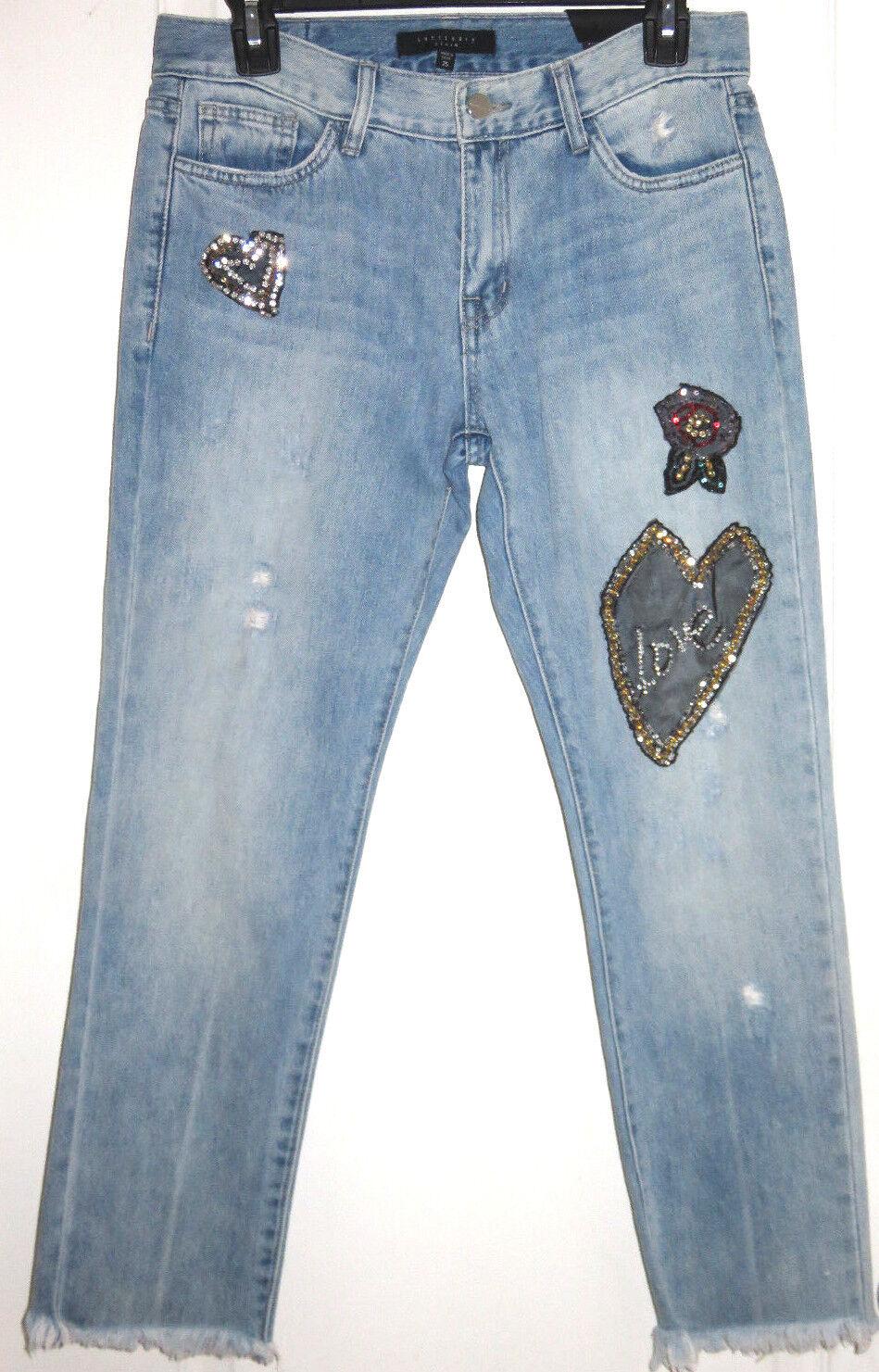 Sanctuary Women's Heart Breaker Destroyed Boyfriend Denim Jeans Size 25 NEW  129