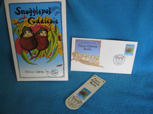 1 of 1 - Snugglepot  & Cuddlepie - MAY GIBBS Aust Post Stamps 3 tales in 1 book! GoRgEoUs