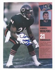 1989-1996 Chicago Bears Donnell Woolford Autograph Signed Photo