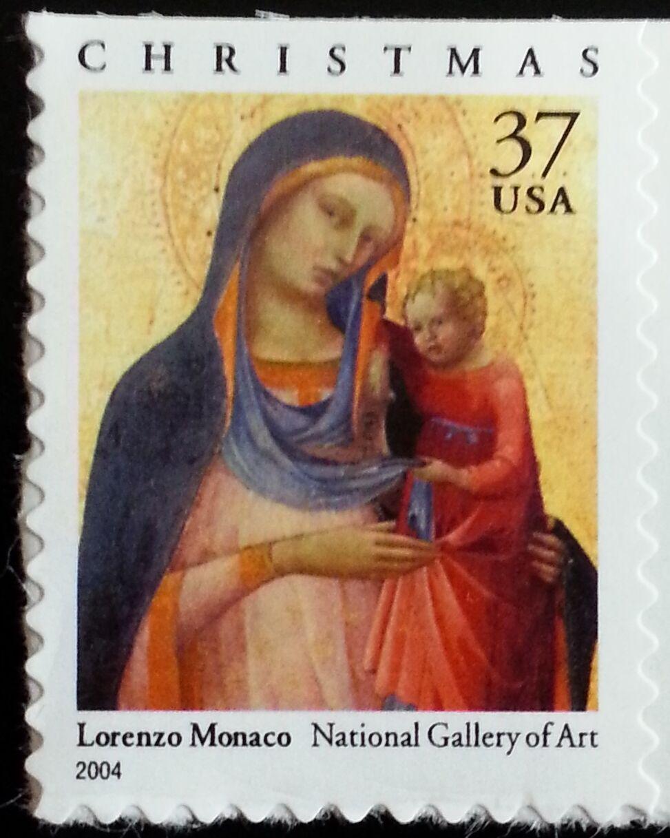 2004 37c Madonna & Child, Lorenzo Monaco Scott 3879 Min
