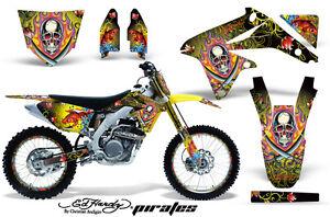 Moto de Cross Pegatina Gráficos Kit + # Placas Envuelva Para Suzuki RMZ450