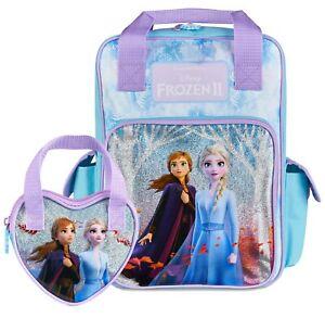 Disney-Frozen-2-Mochila-Y-Cartera-Para-Ninas-Anna-y-Elsa-holografico-de-un-tamano