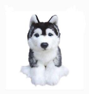 Plush-Dog-SIBERIAN-HUSKY-Stuffed-Collectable-Animal-Cute-Christmas-Gift-Toy