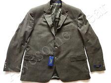 New Ralph Lauren Polo 100% Wool Olive Brown Plaid Sport Coat Jacket sz 48 R