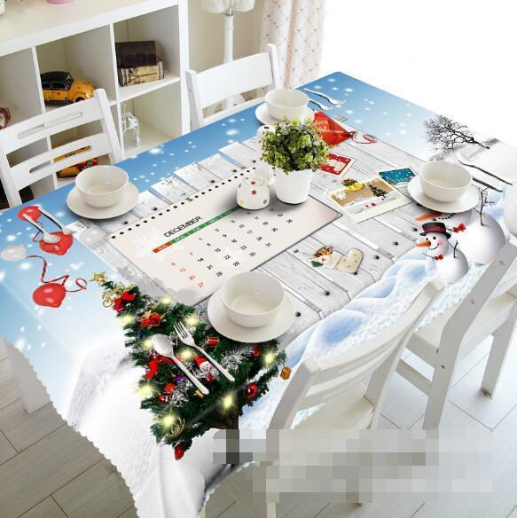 3D Calendar 53 Tablecloth Table Cover Cloth Birthday Party Event AJ WALLPAPER AU