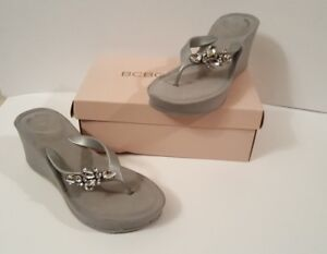 10m Generation Thong Sandals Sz Embellished Bcbg Platform Details About Flip Flop Wedge WEeH2DIY9