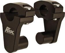 """Rox Speed FX - 2"""" Pivoting Bar Riser for 1-1/8"""" Handlebars (Black) 1R-P2PPK"""