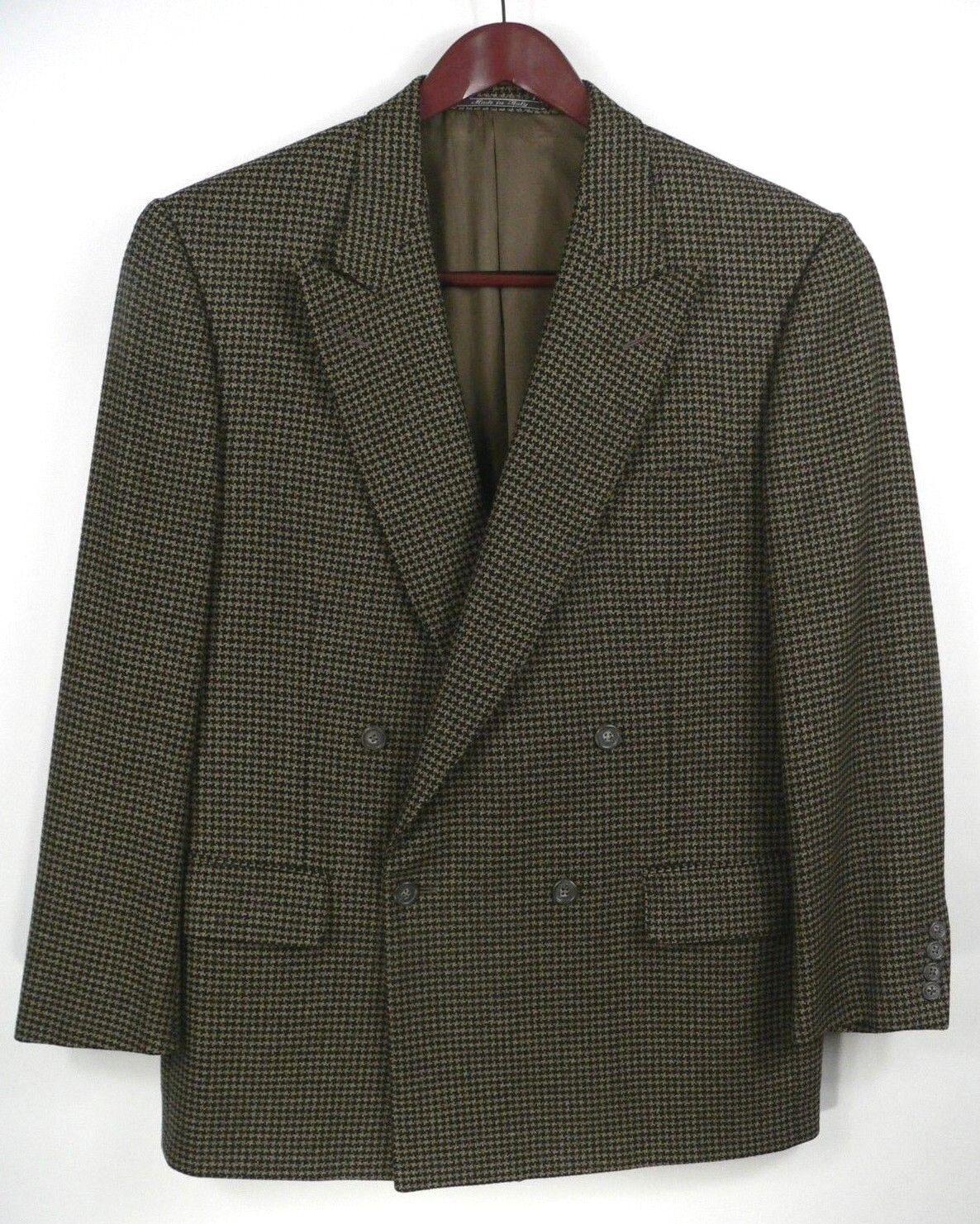 Ermenegildo Zegna Men's Double Breasted Wool Cashmere HT Blazer Measures 40-42R