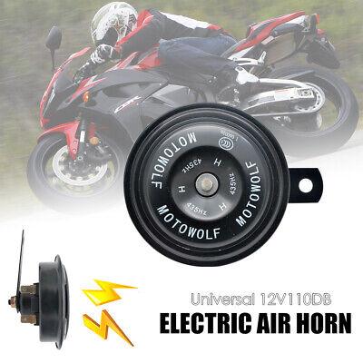 Or 110db Trompette /à Air Haut-parleur Super Fort Corne Escargot pour Moto Voiture Camion Scooter 12V Klaxon Electrique
