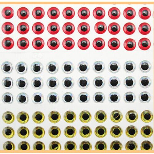 100PCS 3D Fish Eyes Holographic Lure Eyes For FlyTying L1C1 Jigs Dolls 8mm V2Z8