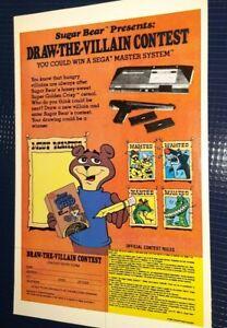 Vintage Print Ad SEGA MASTER SYSTEM Super Crisp Sugar BEAR CEREAL Advertisement