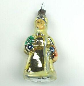 Antiker-Russen-Alter-Christbaumschmuck-Glas-Weihnachtsschmuck-Maedchen-Ornament