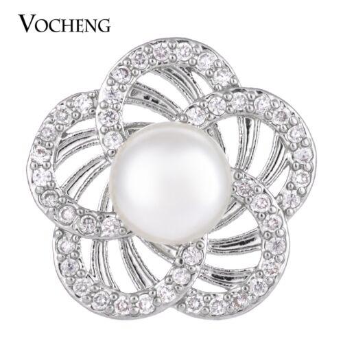 Vocheng CZ Stone Pearl Snap Bijoux 2 Couleurs Luxe 18 mm charme Bouton Vn-1283