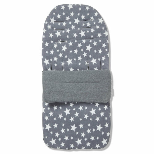 Cosy Toes Compatible with Hauck Viper Grey Star Fleece Footmuff