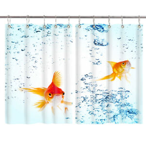 HD-Goldfish-Bubble-Window-Curtain-Treatments-Kitchen-Curtains-2-Panels-55X39-034