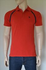 NEW Abercrombie & Fitch Vintage Sport Polo Shirt Red Moose L