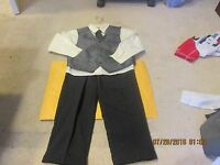 Boys Size 6 Bowen & Wright Dress Shirt, Tie, Vest And Pants