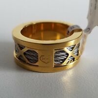 Charriol Forever Steel Yellow Pvd Ring Yellow Gold Color Size 8 1/4 $230