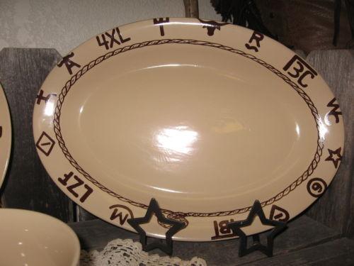 Western Dinnerware 16 Piece Branded Design Cowboy Cowgirl Dishes Kitchen Decor For Sale Online Ebay