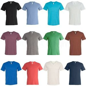 Canvas-Bella-Mens-Unisex-Size-S-M-L-XL-2XL-TriBlend-V-Neck-T-Shirt-Vee-Tee-3415