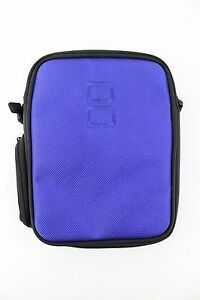 Nintendo Embroidered Soft Storage Travel Carrying Case Protective Gamer Blue
