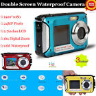 DOUBLE SCREEN HD 24MP WATERPROOF DIGITAL VIDEO CAMERA 1080P DV,10M UNDERWATER