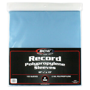 1000-BCW-33-RPM-LP-Record-Vinyl-Album-Plastic-Outer-Sleeves-Covers-2-MIL
