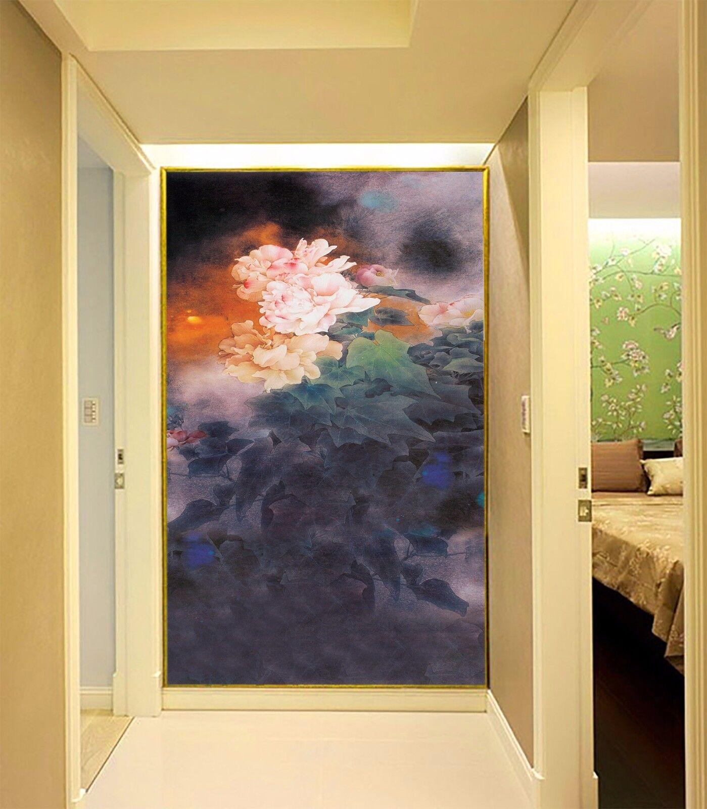 3D Flower Painting 87 Wallpaper Mural Paper Wall Print Wallpaper Murals UK Lemon