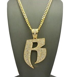 """NEW RUFF RYDERS PENDANT WITH 24/"""" CUBAN CHAIN"""