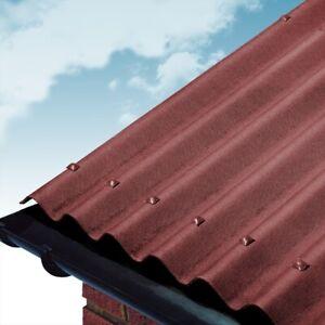 Red Coroline Roofing Sheet 2 6mm 950 X 2000mm Bitumen Roofing Sheet Cheap Ebay