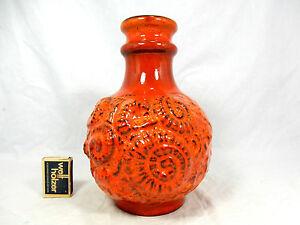 Beautiful-034-Lava-034-glazed-70-s-design-Carstens-Keramik-pottery-vase-7493-22