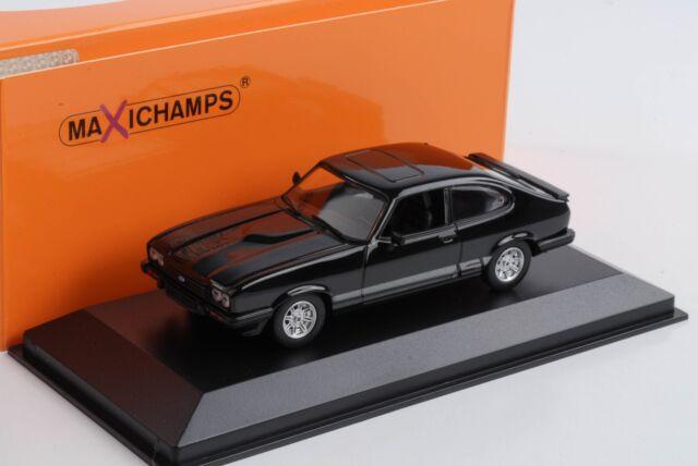 Ford Capri S 3 Mkiii Coupe Black 1:43 Maxichamps Minichamps