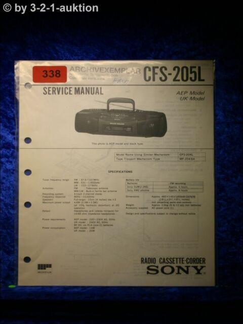 Sony Service Manual Cfs 6931 9oz Cassette Corder  0338