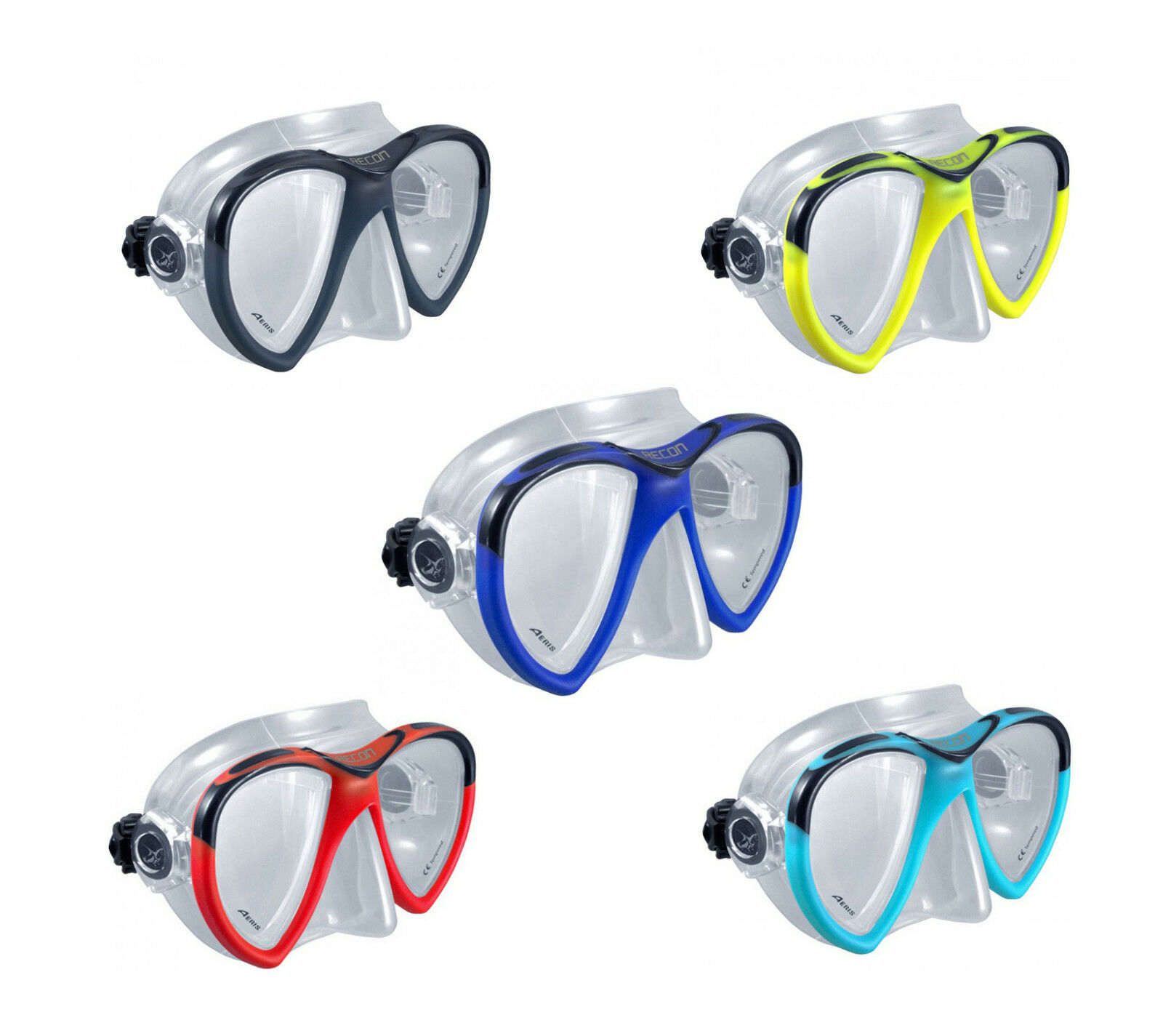 Oceanic - Aeris - Recon 2-glas-maske - with   Ultra Clear   Safety Glass