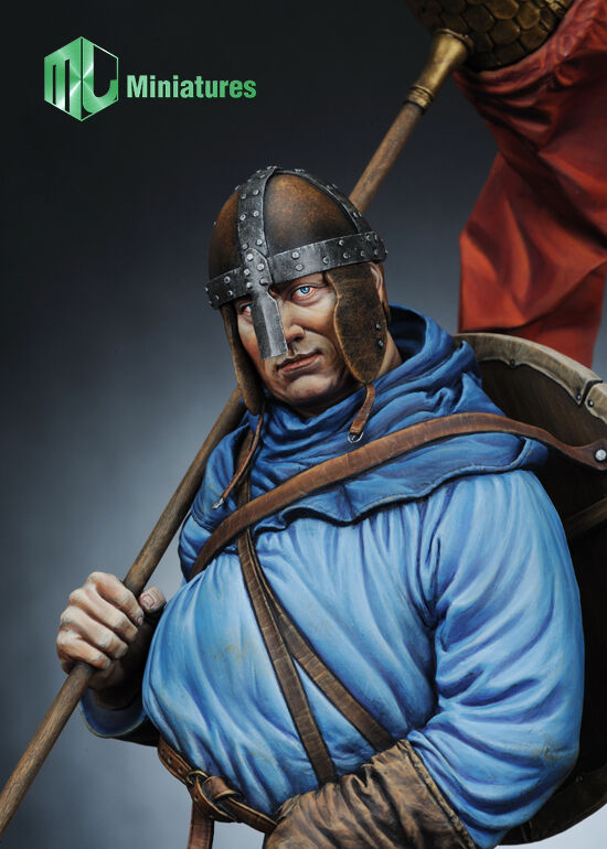 MJ Miniatures Saxon Standard Bearer Hastings 1066 1 10th Bust Unpainted kit