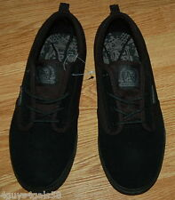 MENS SHOES Air Speed BLACK Lace Up Athletic Leather & Suede Size 7