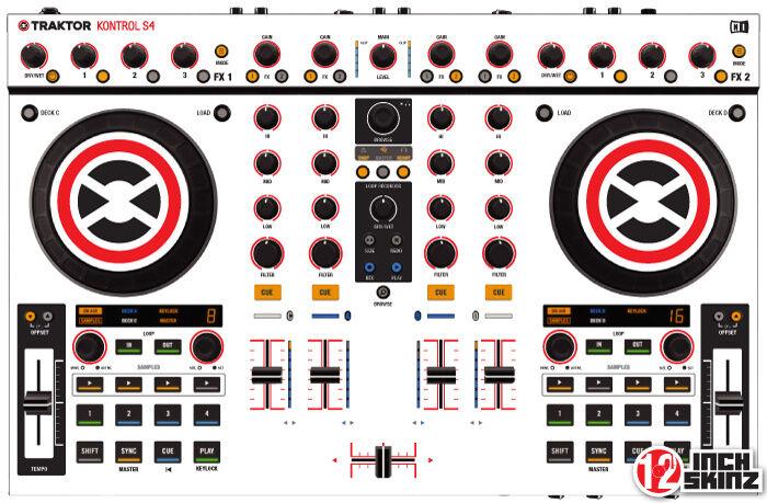 Native Instruments Kontrol S4  Skin white black
