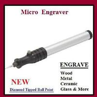 Micro Engraver Wood Metal Ceramic Glass Portable Mini Pocket Pen Style Engrave