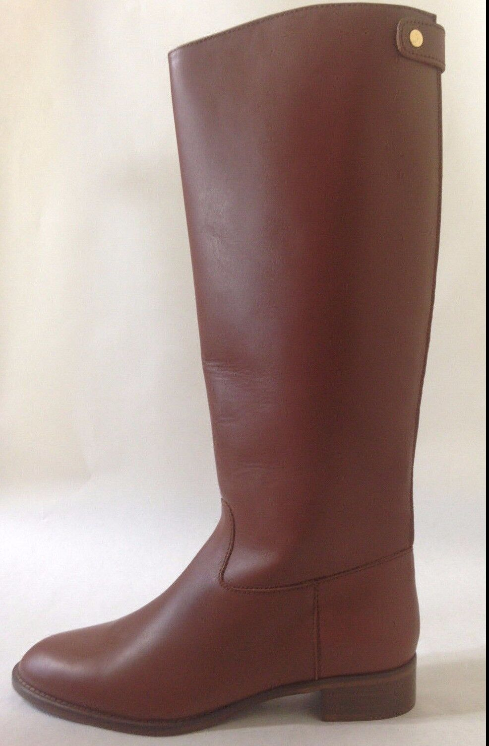 J. Crew Field boots 02960 $328 Kindling tall brown back zip leather sz 5.5