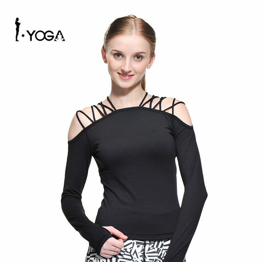 Sports Lacing Yoga blueesa Fitness Running Tanks  Blouse Woman Gym Top T Shirts  lowest prices