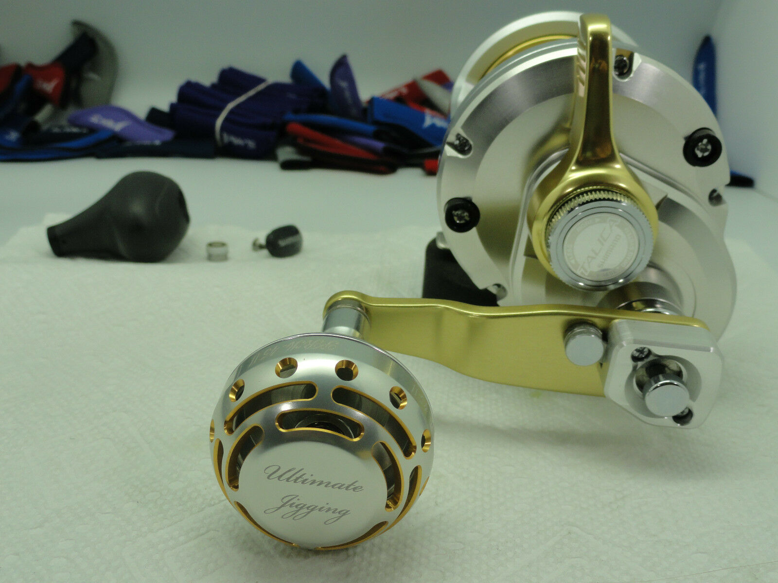 UJ PRK45 type II knob Shimano FITS Shimano knob Saragosa Twinpower SW 500025000  reel BLK/SV 7fbdf9