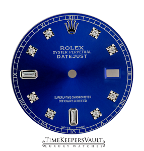 Custom-Blue-Genuine-Diamond-Dial-to-Fit-Rolex-Datejust-Quickset-36mm-Model