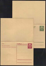 ALLEMAGNE - III REICH / 1933-34 - 4 ENTIERS POSTAUX / COTE 72.00 EUROS (ref1201)