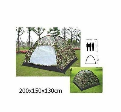 3 & 4 Outdoor Festival Camping Hiking Folding Dome Tent Waterproof Camouflage