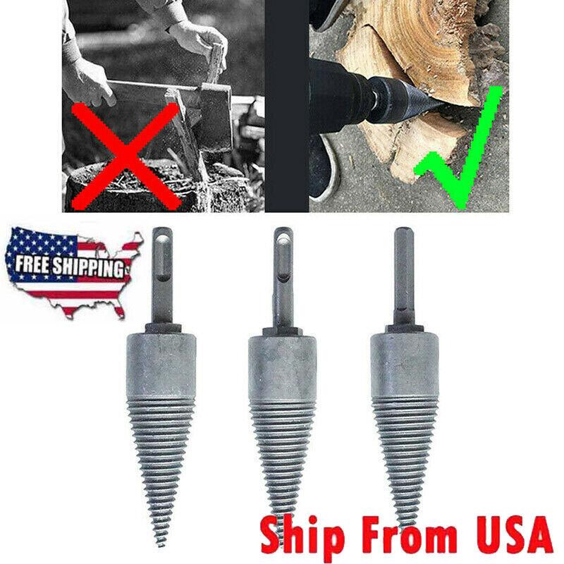 Log Splitter Drill Bit Screw Cone Kindling Firewood Hand Sti