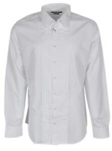 f7a91f9e43c New Gucci Men s 310063 White Cotton Pieced Poplin CLASSIC FIT Tuxedo ...