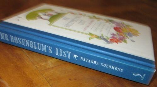 1 of 1 - Mr Rosenblum's List - Natasha Solomons. Hb    Utterly CHARMING & FuNnY  in MELB!